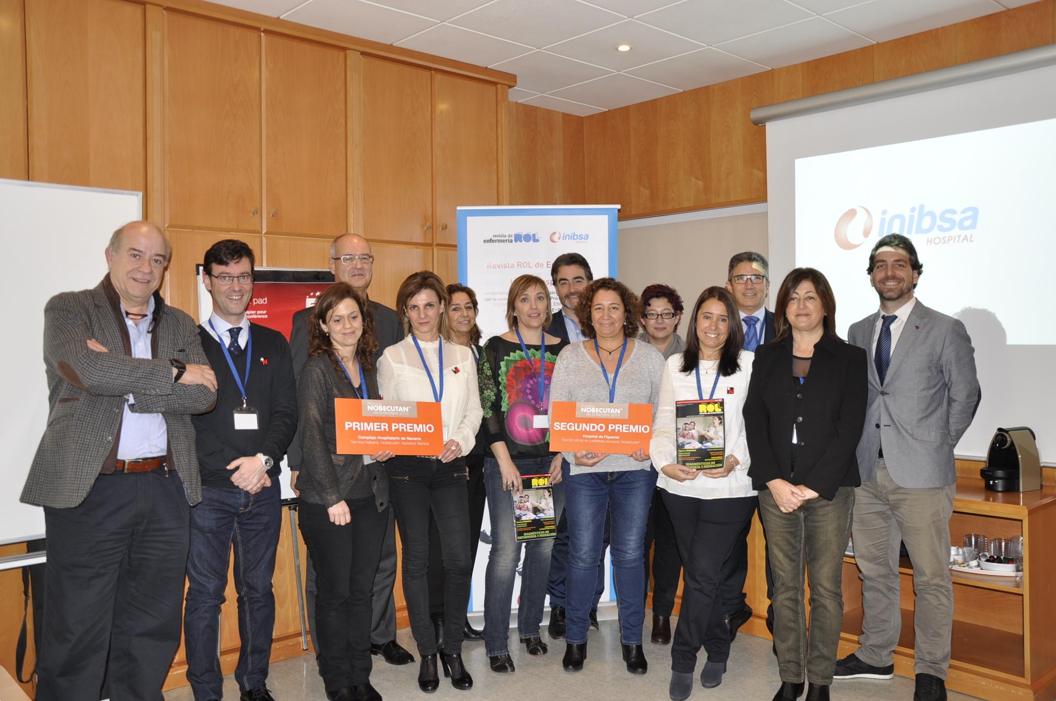 """Professionals d'infermeria de Navarra i de Figueres, guardonats amb els """"Premis Nobecutan® 2015"""""""