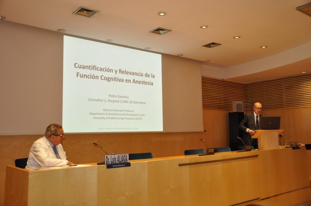Symposium Cuantificación y relevancia de la función cognitiva en anestesia dentro del Symposium Anestesia, cirugía y alteraciones cognitivas postoperatorias organizado por Inibsa Hospital