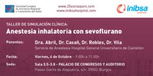TALLER DE SIMULACIÓN CLÍNICA: Anestesia inhalatoria con sevoflurano